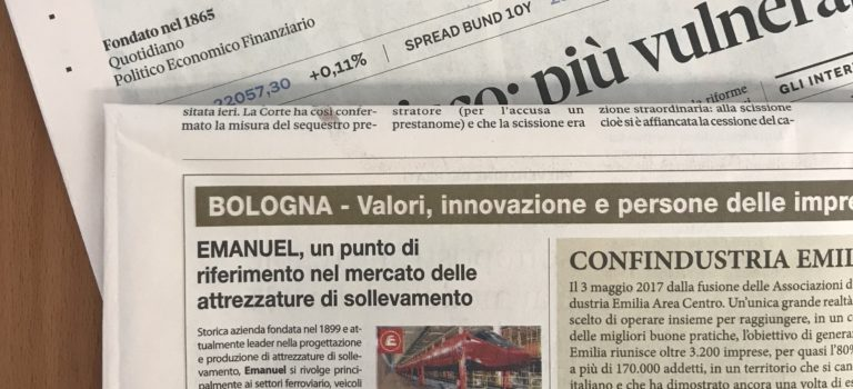 Article on IlSole24Ore