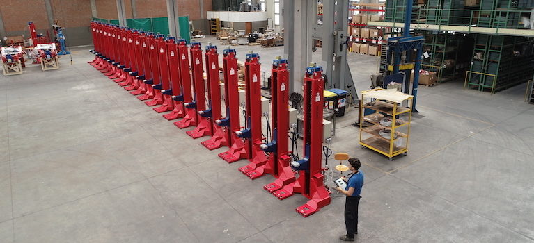 Delivery of the 5th set of columns to Metro Barcelona – SCM
